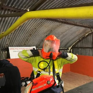 confined space training - mask