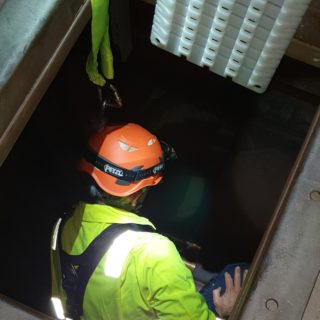 going into a confined space