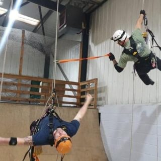 coworker rescue at height course